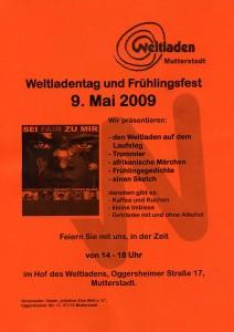 Plakat Weltladentag u. Frühlingsfest